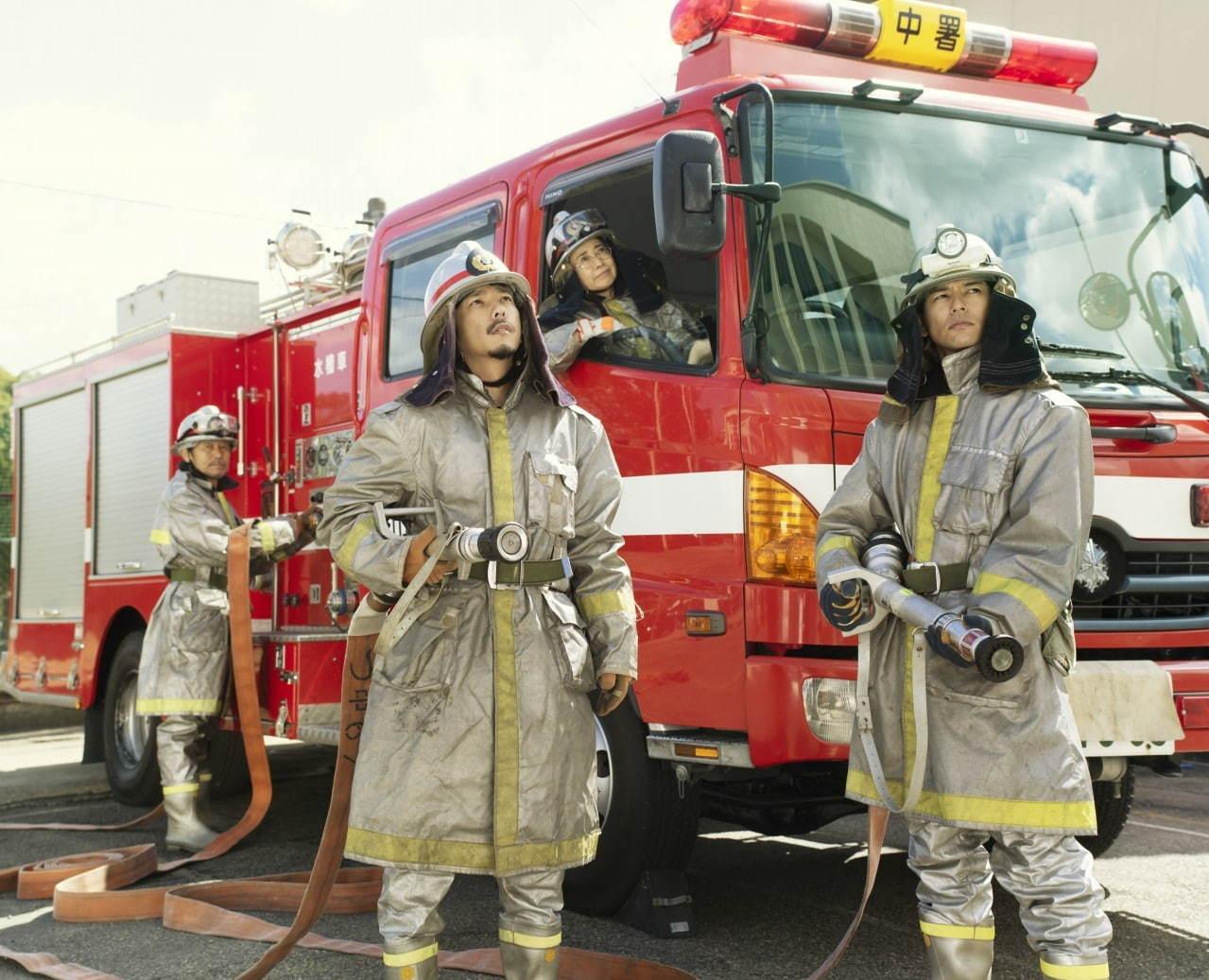映画浅田家!の消防車写真