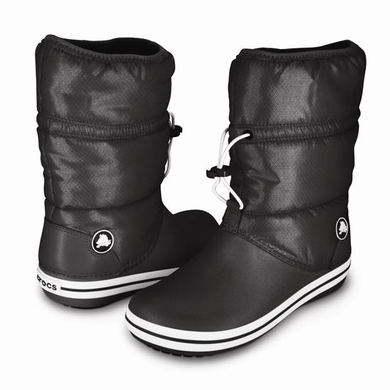 crocband winter boot w(クロックバンド ウィンター ブーツ ウィメンズ) black/black