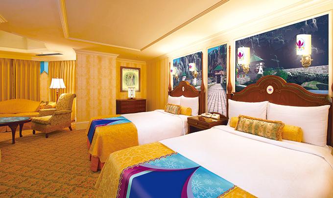 東京ディズニーランドホテルにアナ雪の客室シンデレラ美女と野獣