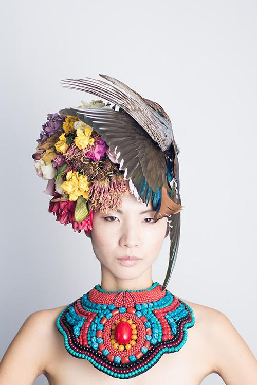 花結い師TAKAYA×トップモデル「SACHI」の写真展が西麻布で