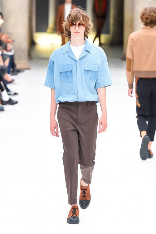 ニール バレット 2017年春夏メンズコレクション , レトロを現代に輸入、寄木細工は懸け橋に