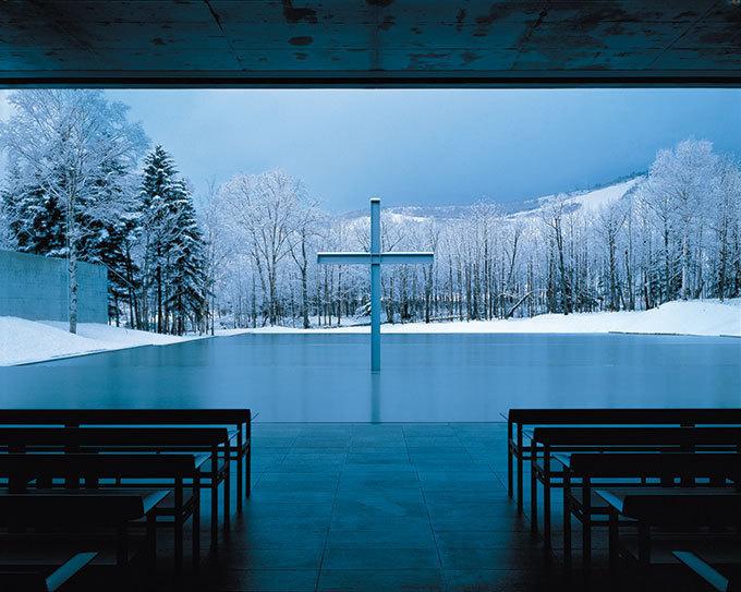 水の教会,1988年,北海道勇払郡撮影:白鳥美雄