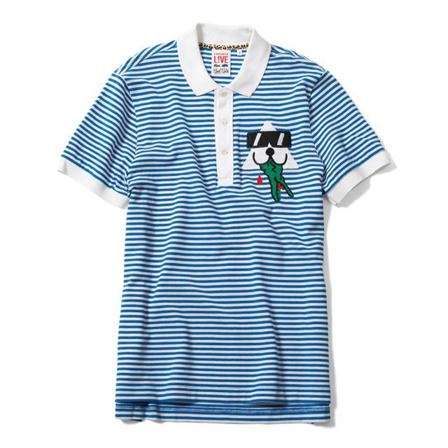 LACOSTE L!VEアーティストコラボ第2弾 - Cool Catsとのユニークな限定コレクション - ポロシャツ ¥15,750(税込)