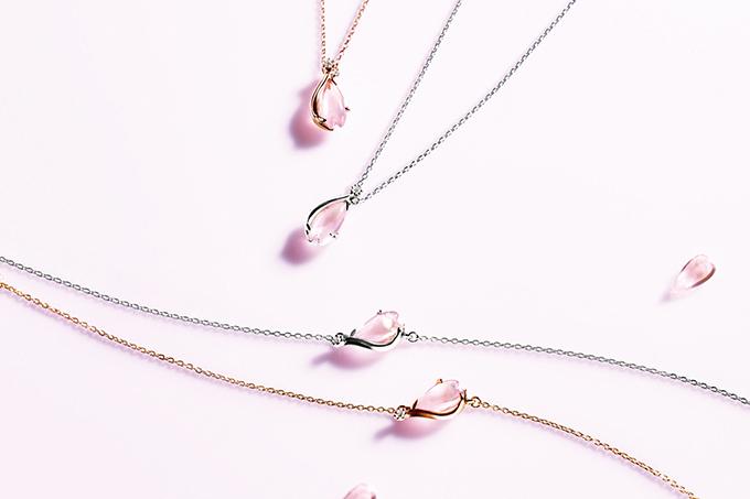 e33c477b2105a ... スタージュエリーから、桜をモチーフにした春限定ネックレス&ブレスレット 画像2 ...