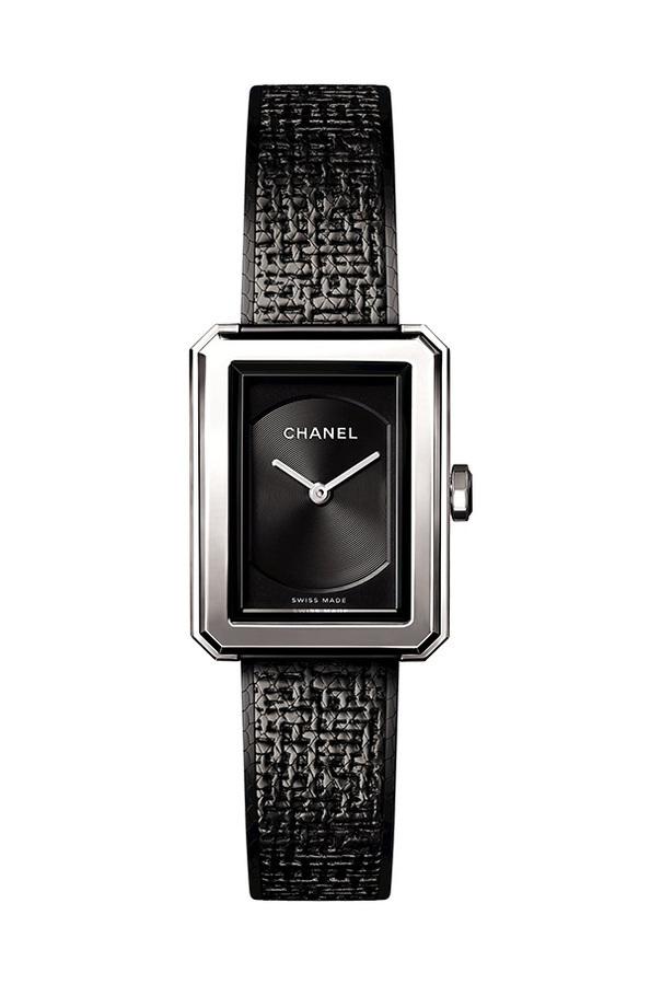 premium selection f5d89 1b99a シャネルの時計「ボーイフレンド ツイード」にブラック ...