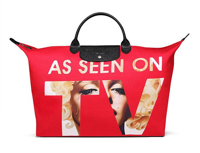 9cb73a7e24bb ロンシャン×ジェレミー・スコット - ハリウッドスター、マリリン・モンローを描く真っ赤な