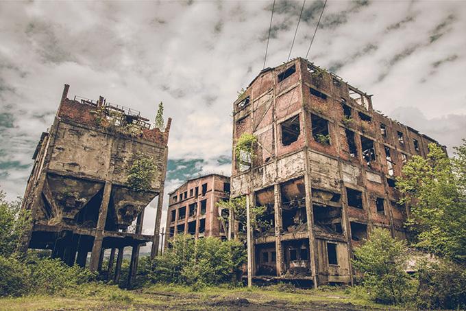 丸ごと廃墟の都市