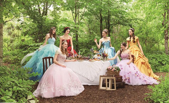 9f98c1852b7e6 クラウディアからディズニープリンセスのウエディングドレス、シンデレラや白雪姫など6作品をモチーフ ...