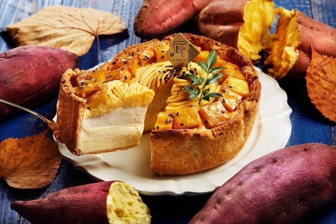 「安納芋とアールグレイクリームのチーズタルト」一口サイズの大学芋をデコレーション