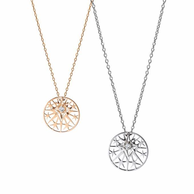 """<スタージュエリー ガール>""""天使の輪""""のようなダイヤモンドのネックレス"""