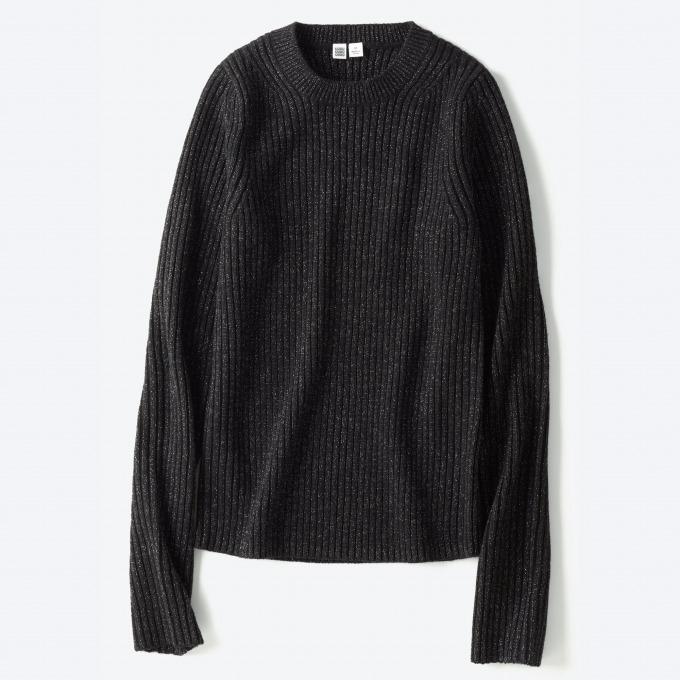 <ウィメンズ>シャイニークルーネックセーター+E 3,990円+税