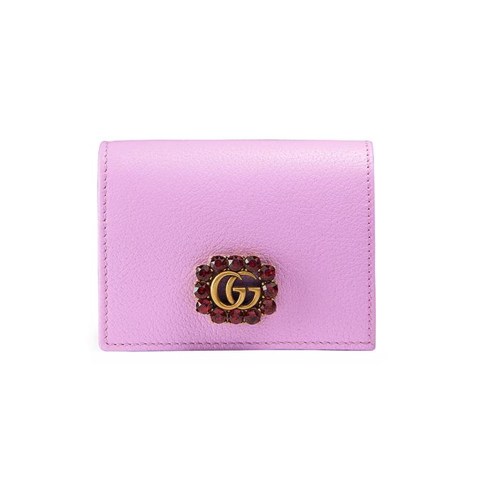 ダブルG&クリスタル レザー カードケース(コイン&紙幣入れ付き) 60,480円(税込)