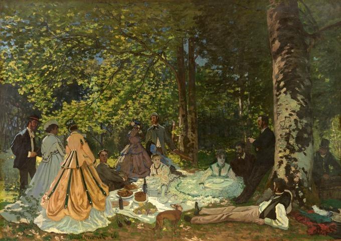 クロード・モネ 《草上の昼食》 1866年