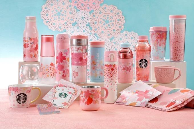 スターバックスの「sakuraシリーズ」桜モチーフのタンブラーやスタバカード限定発売 ファッションプレス