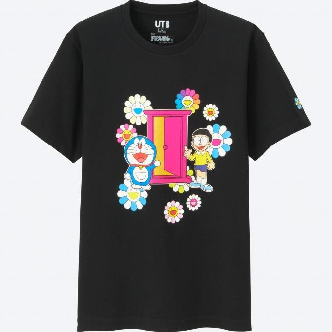 """「ドラえもんUT」村上隆コラボ""""お花""""を描いたカラフルなTシャツやぬいぐるみなど"""
