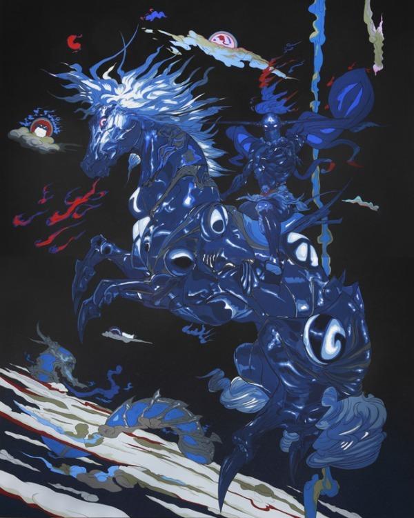 天野喜孝展 天馬ファイナルファンタジーで描いた馬のイラストなど展示