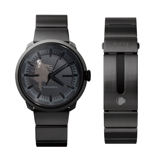 wena wrist Three Hands Mechanical Premium Black -BLACK JACK Edition