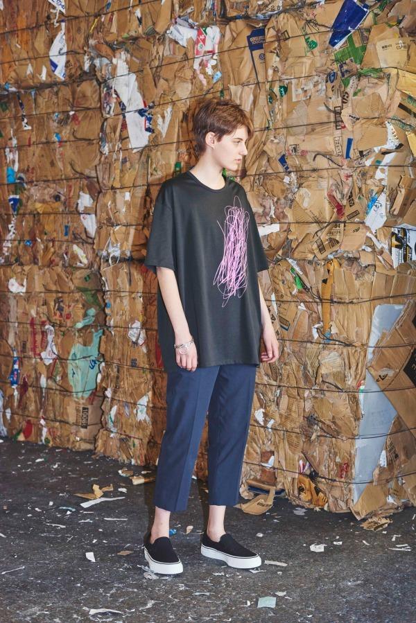 ビッグシルエットのポケットTシャツ 11,500円+税