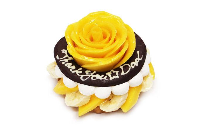 黄色いバラで父の日のお祝いを♪カフェコムサから限定ケーキ登場!