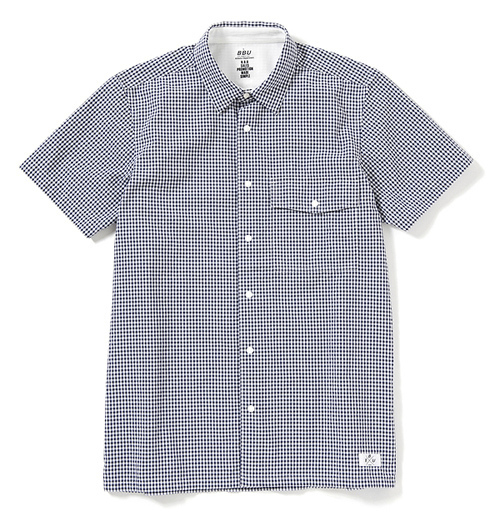 B&Y、BEDWIN、UNDEFEATEDの合同プロジェクト「B.B.U」第3弾 - L/S COOL MAX GINGHAM CHECK SHIRTS ¥18,900(税込)