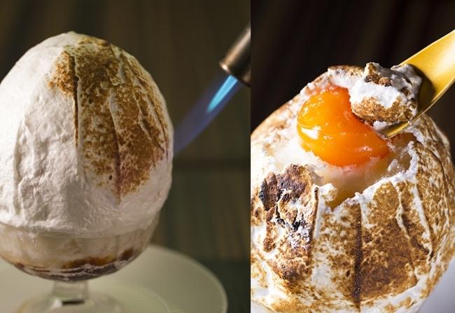 """たまご専門店「TAMAGOYA」ふわふわのメレンゲを""""炙る""""かき氷「焼きたまご」"""