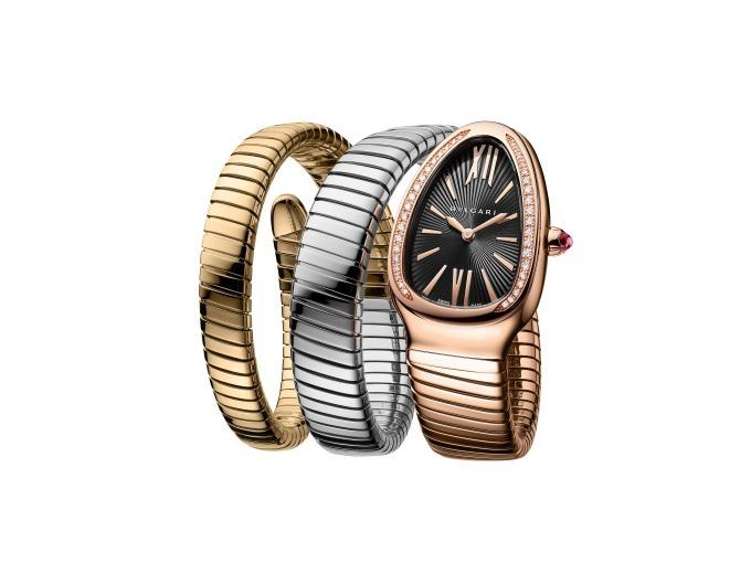 pretty nice 77350 8f276 ブルガリの新作腕時計「セルペンティ トゥボガス」蛇の頭を模 ...