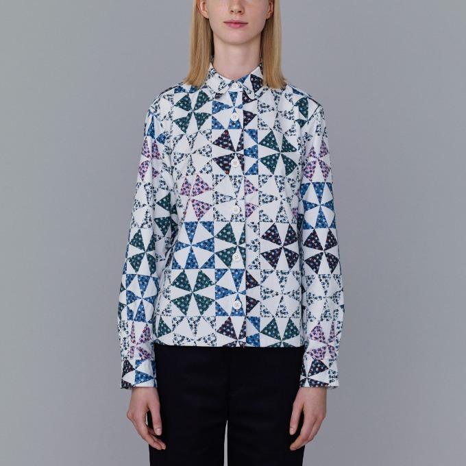フラワープリントシャツジャケット 3,990円+税