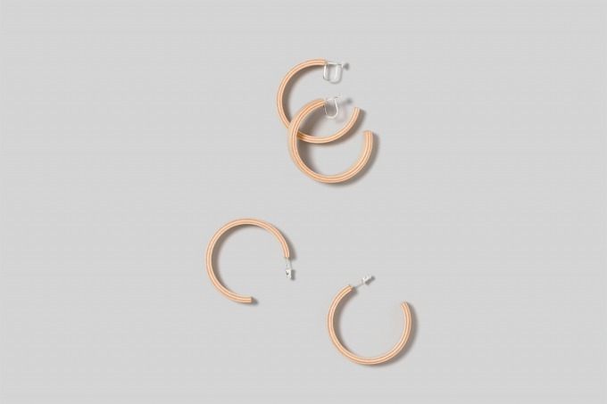 plywood hoop earrings 25,000円+税