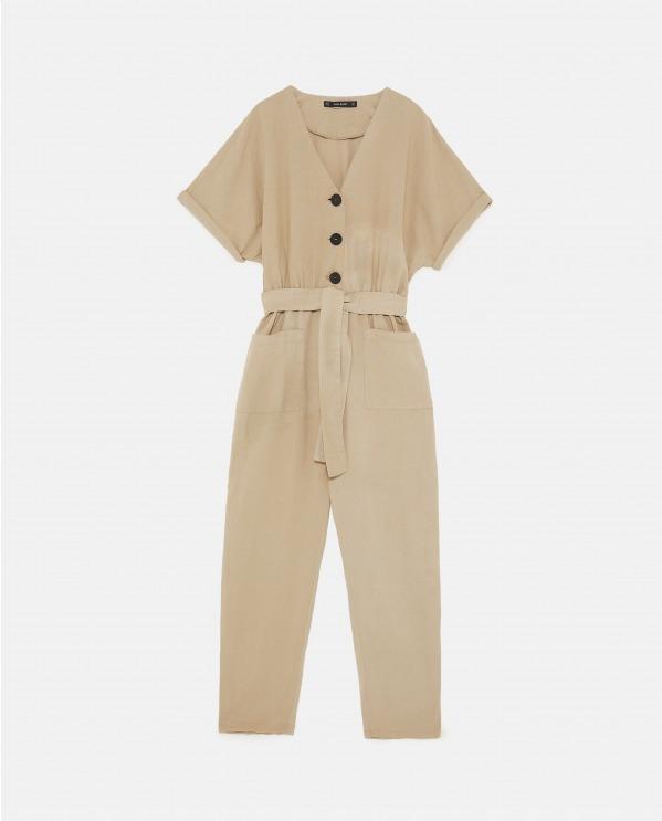 ボタン付きジャンプスーツ 7,399円+税