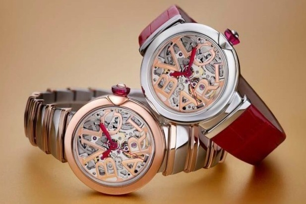 4e54ee9a9ed2 ブルガリの腕時計「ルチェア」新作、スケルトンのダイアル&ダイヤモンドのラグジュアリーな