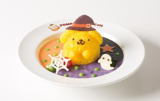 「ポムポムプリンカフェ」秋のハロウィンメニュー、魔法使いプリンのシチューや黒