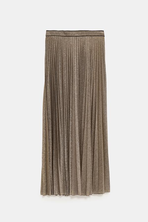 メタリックスレッドプリーツスカート11,990円