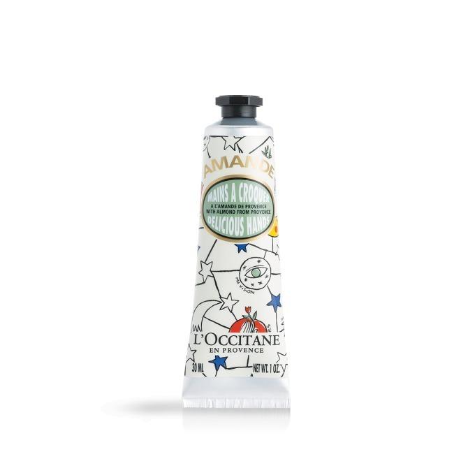 ロクシタン「ジョイフルスター アーモンド」カラフルデザインのハンドクリーム