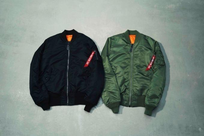 アルファ インダストリーズのMA-1タイトジャケット  17,800円+税