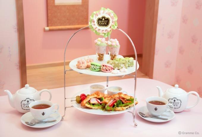 """<Q-pot CAFE.>""""桜""""メニュー - アフタヌーンティー&苺大福クリームを使ったパフェなど"""