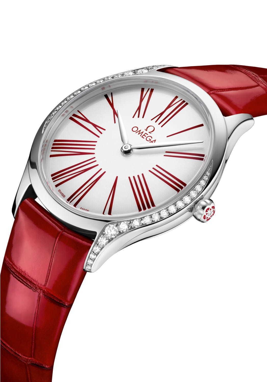 best service 2d806 15e62 オメガ「トレゾア」新作レディース腕時計 - 鮮やかな赤×白の ...