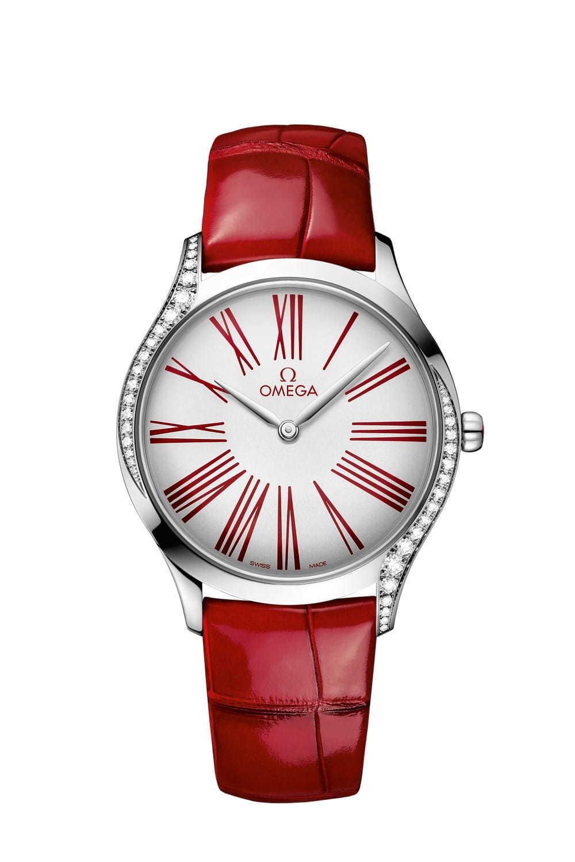 best service 70e8d 7b4f8 オメガ「トレゾア」新作レディース腕時計 - 鮮やかな赤×白の ...