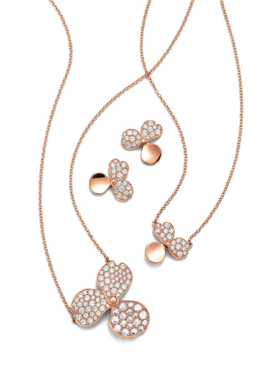 new styles af4e4 ac0a1 ティファニーの花びら型ペンダント&ピアス、ダイヤモンド ...