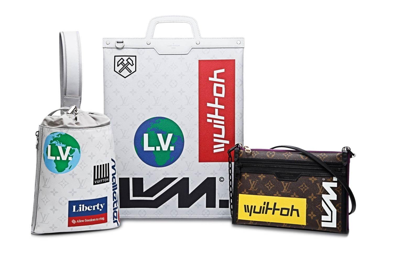 左から) チョーク・スリングバッグ 225,000円+税、フラット・ヴェルティカルトート 270,000円+税 フラット・メッセンジャー 225,000円+税 ※すべて予定価格 (C)Louis Vuitton