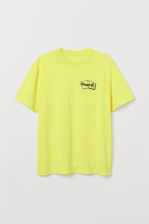 """H&M×ポスト・イットのメンズウェア、""""付箋""""カラーのTシャツ&ソックスやロゴプリントシャツ - 写真3"""