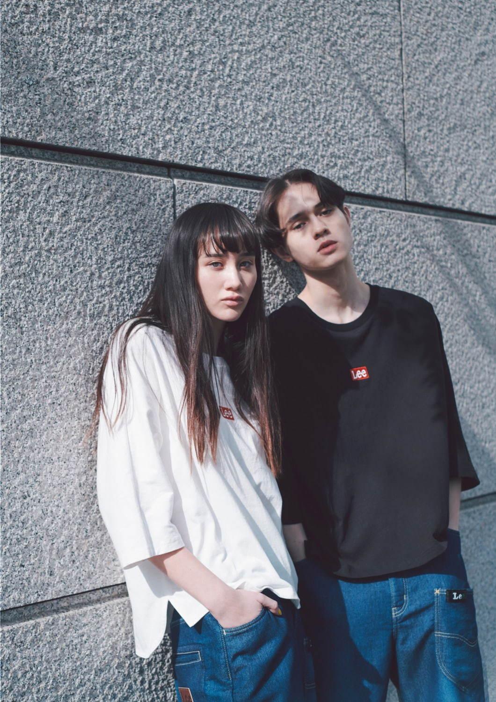 フラボアとLeeがコラボ、ロゴ刺繍カットソー&テーパードデニムパンツをユニセックスで - 写真5