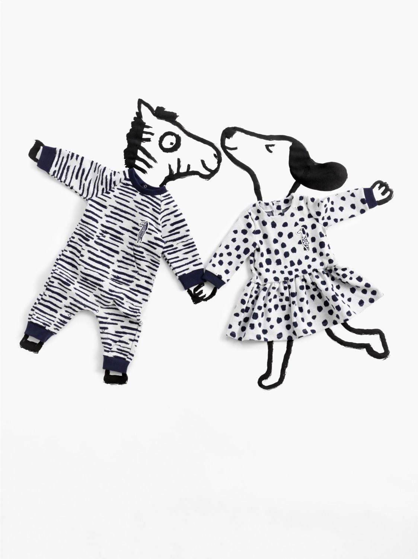 """プチバトー""""猫・犬・シマウマ""""を表現した縞模様やドット柄ウェア ..."""