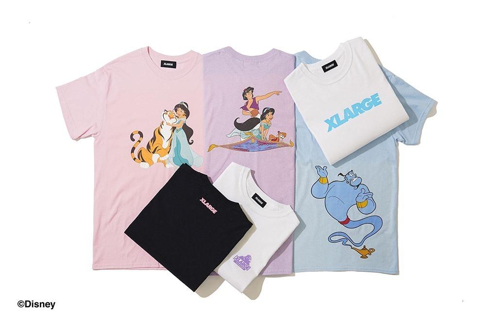 〈XLARGE〉ジャスミンやジーニーなどアニメ版キャラをプリント