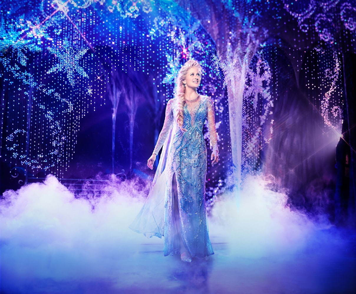 Caissie Levy as Elsa in FROZEN on Broadway. Photo by Saint