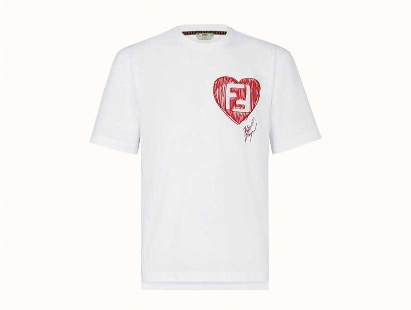 "newest collection f2db9 ac51b フェンディ""カール・ラガーフェルド""に捧げる限定Tシャツ、FF ..."