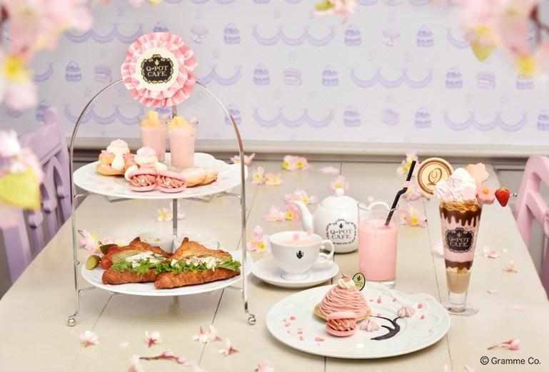 """Q-pot CAFE.の""""桜""""スイーツ、ピンクのモンブランプレートや和×洋の桜パフェ - 写真1"""