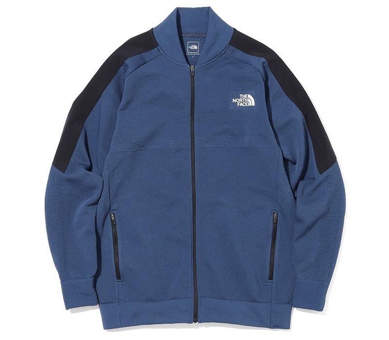 「エンジニアード トラック ジャケット(Engineered Track Jacket)」 価格:19,800円(税込) カラー:ミックスチャコール(ZC)、ブルーウィングティール(BT)、ブラック(K) サイズ:M、L、XL 素材:Recycled Polyester Engineered Knit(Mid) <袖ライン部分>APEX Softshell Super Light
