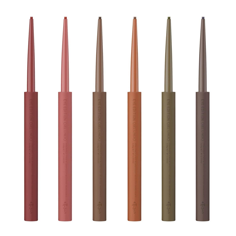 左から) エテュセ アイエディション(ジェルライナー) 01、02、03、04、05、06 各1,200円+税
