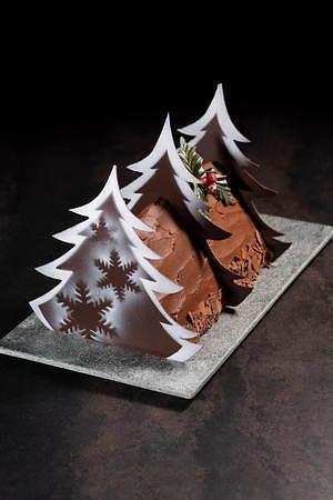 """京王プラザホテルのクリスマスケーキ2020、""""暖炉""""や""""本""""を模ったユニークなチョコケーキなど 画像5"""