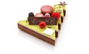 サダハル・アオキのクリスマス2020、ピスタチオ×ショコラのモミの木型ケーキ&イチゴのマカロンケーキ 画像3